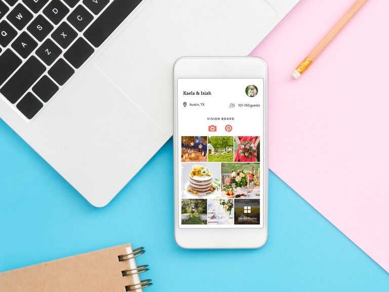 The Knot app Wedding Vision