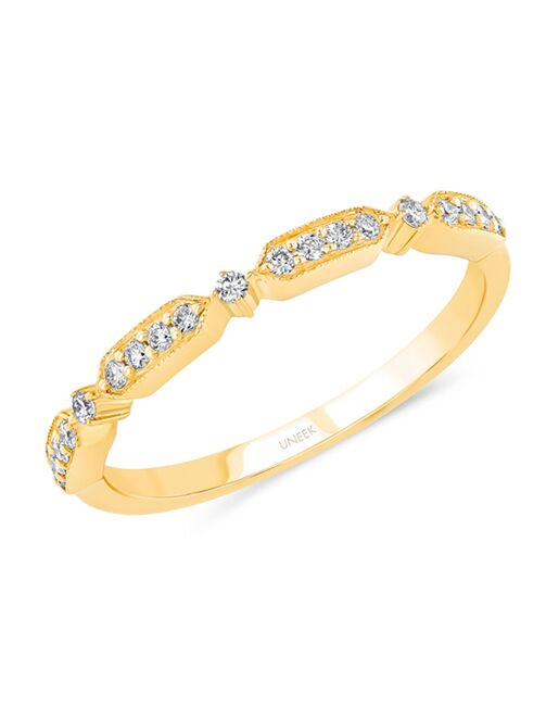 Uneek Fine Jewelry SWUS937B Gold Wedding Ring