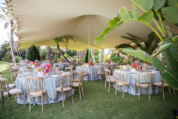 Tented Tropical Garden Reception