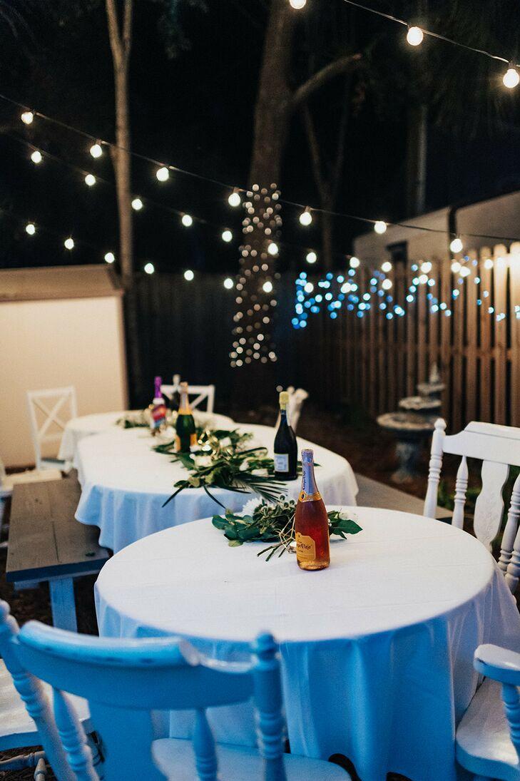 Nighttime Reception Setup  on Tybee Island in Georgia