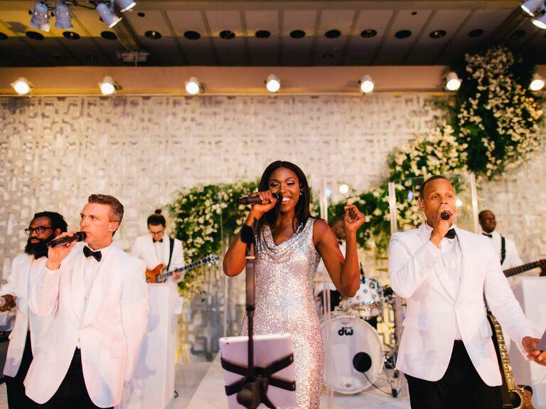 Live wedding band performance