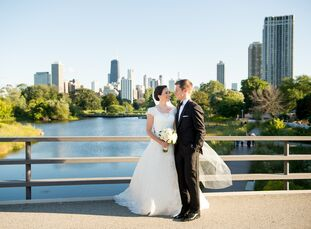 While Katherine Harrington (31 and a scientist) and Eric Schullhaus (29 and a sports analyst) are both transplants to Chicago, Illinois, they wanted t