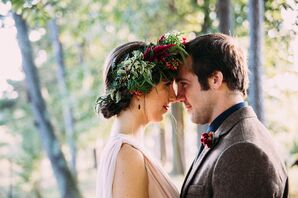 Bohemian Flower Crown and Whimsical Updo