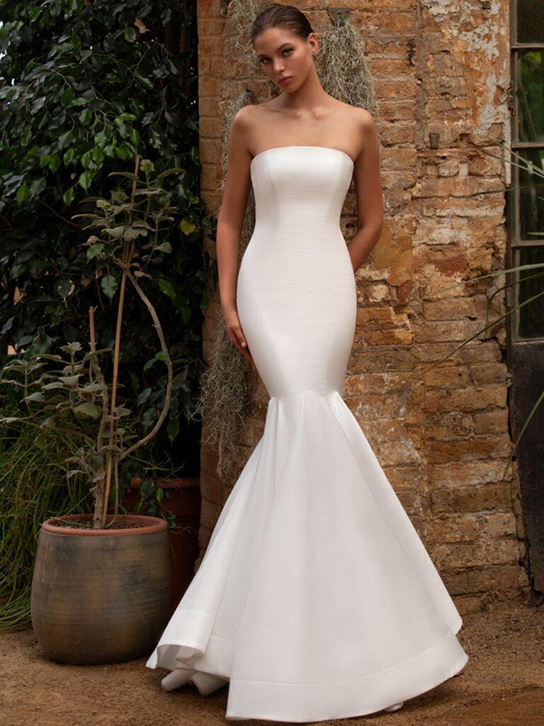 Zac Posen for White One strapless mermaid dress