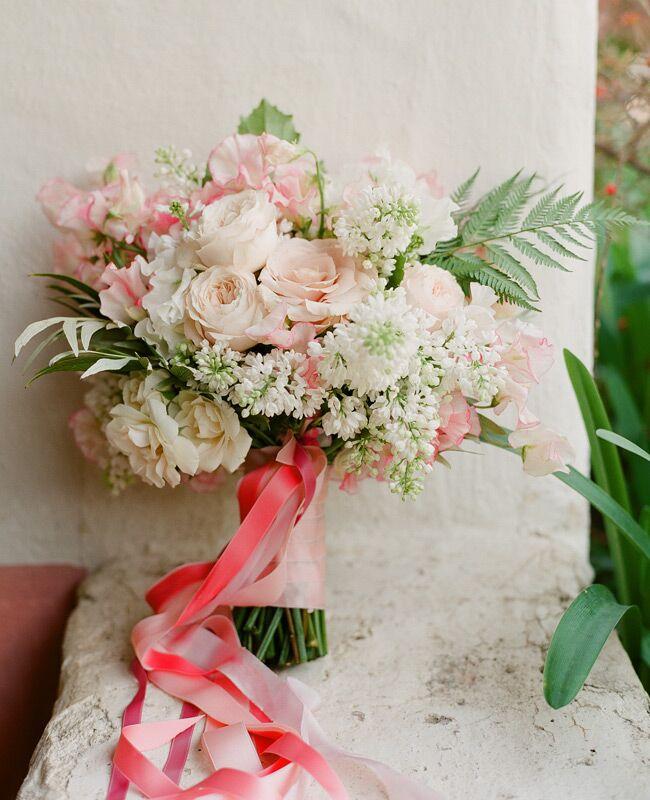 Blush pink woodland bouquet by Flowerwild | Jose Villa | blog.theknot.com