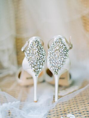 Glam Crystal-Embellished Badgley Mischka Stilletos