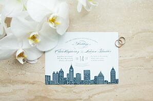 Personalized Invitation with Atlanta Skyline Illustration