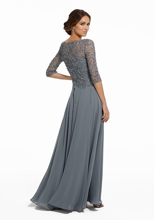 MGNY 72034 Blue Mother Of The Bride Dress