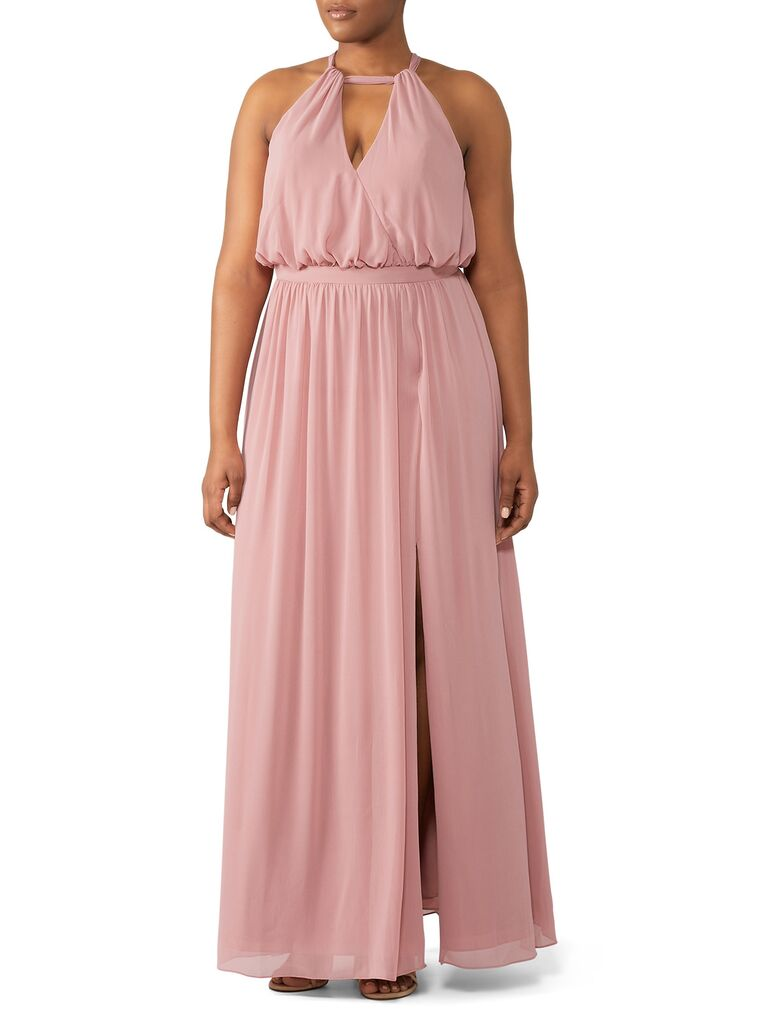Pink bridesmaid dress rental under $100