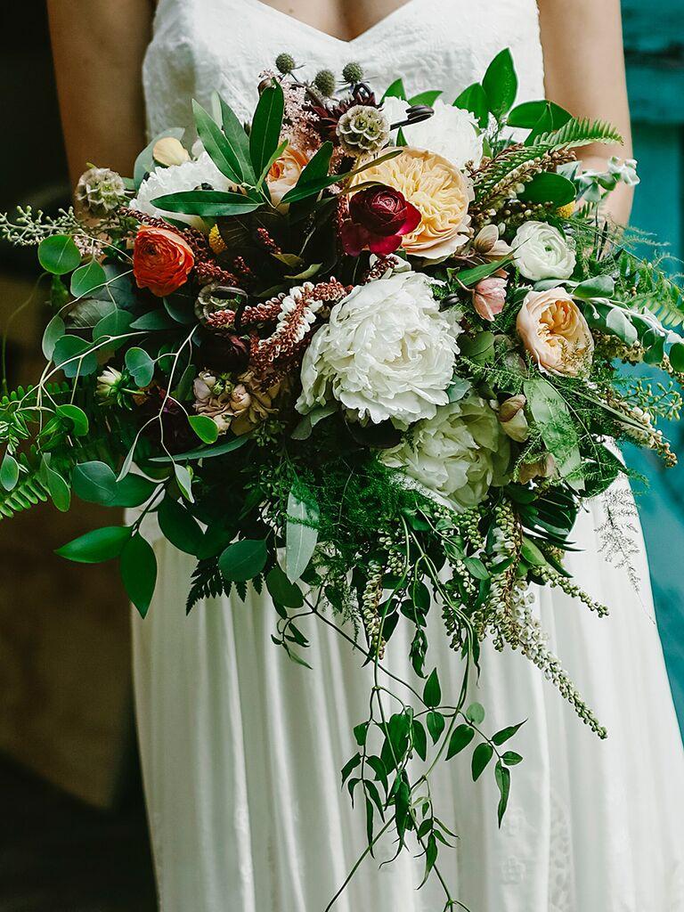 Wildflower bouquets the best wildflower bouquets from real weddings fern leaf and peony wildflower wedding bouquet ideas izmirmasajfo