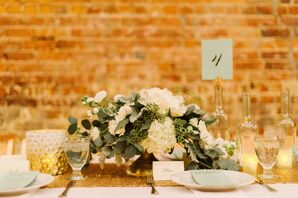 Natural Ranunculus and Eucalyptus Centerpiece