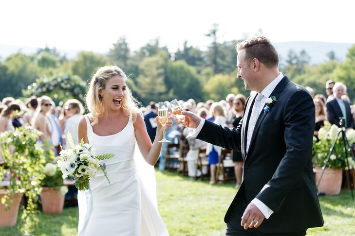 Ceremony Recessional Champagne Toast