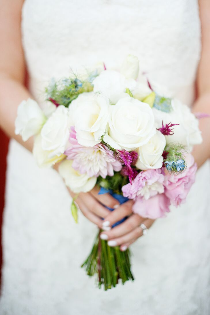 Ivory Rose and Pink Peony Bouquet