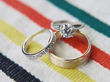Assorted wedding and engagement rings
