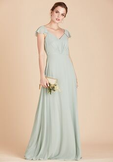 Birdy Grey Kae Bridesmaid Dress in Sage V-Neck Bridesmaid Dress