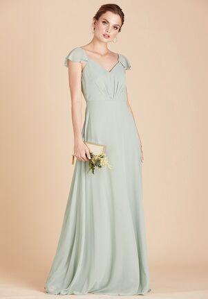 Birdy Grey Kae Dress in Sage V-Neck Bridesmaid Dress