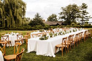 Casual, Rustic Outdoor Reception at Stout's Island Lodge in Birchwood, Wisconsin