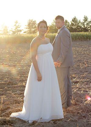 Simple, Empire Waist David's Bridal Gown