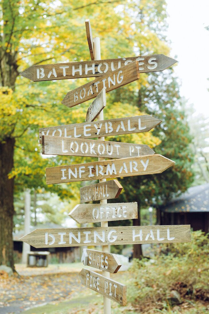 Summer Camp Wooden Signs