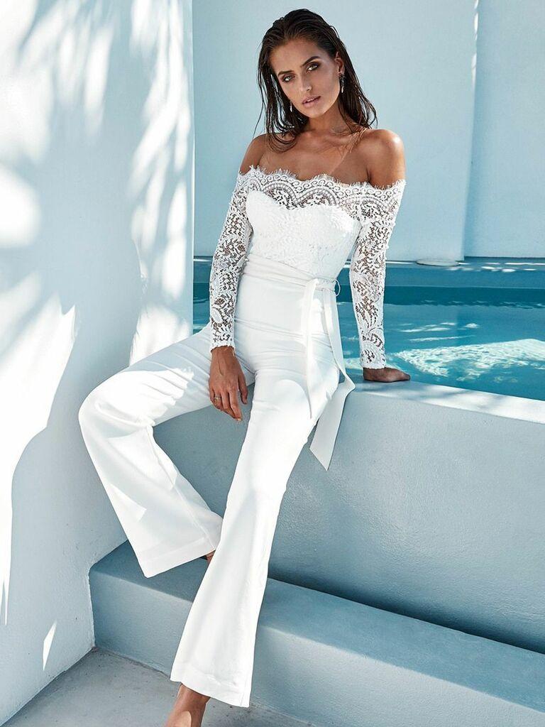 Beachside Bunny Tanaya white jumpsuit - bridal jumpsuits