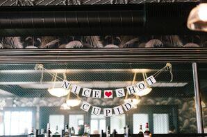 """Nice Shot Cupid"" Easy Paper Banner"
