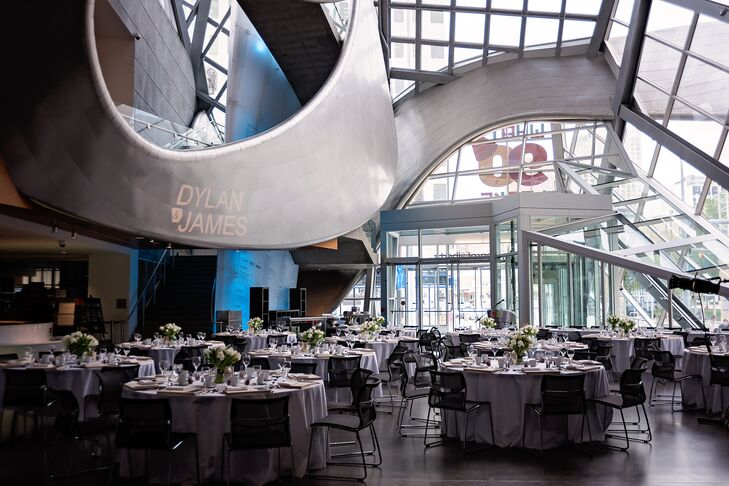 The reception was held in the Art Gallery of Alberta's in-house restaurant, Zinc.