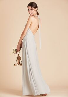 Birdy Grey Moni Convertible Dress in Dove Gray Halter Bridesmaid Dress
