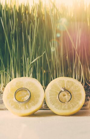 Wedding Rings on Lemon Wedges