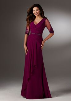 MGNY 71514 Purple Mother Of The Bride Dress