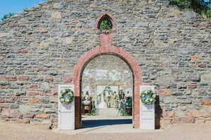 Romantic, Rustic Outdoor Ceremony at Winery