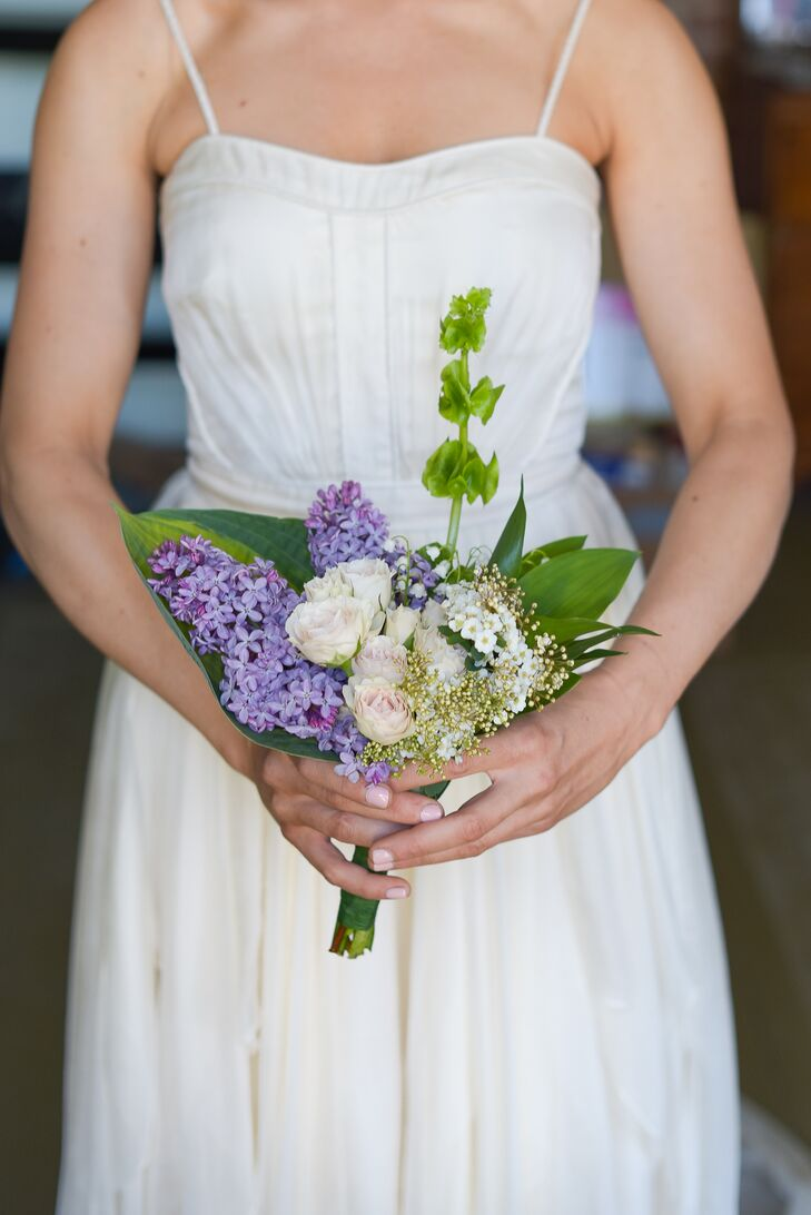 DIY Lilac Bridal Bouquet