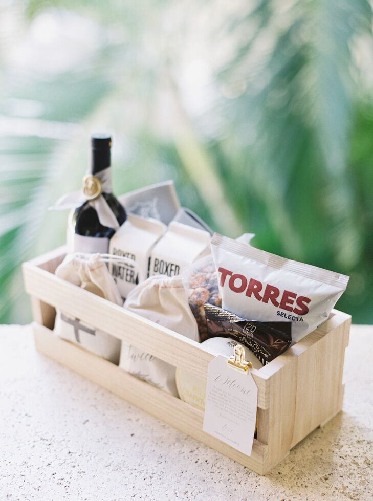Wood Crate Welcome Baskets