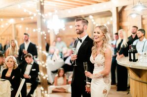 Champagne Toast at Reception
