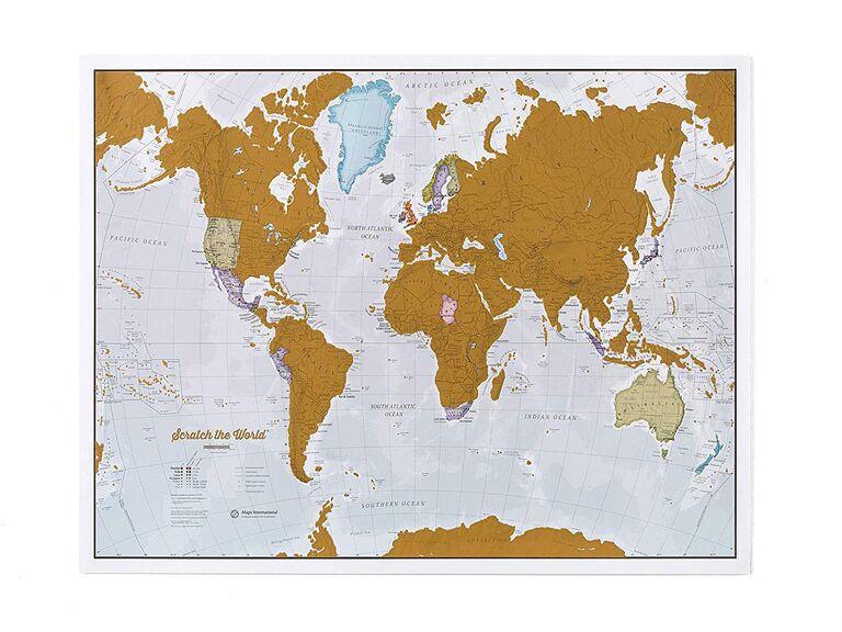 Scratch off map best man gift idea