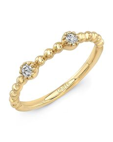 "Uneek Fine Jewelry Uneek ""Las Palmas"" Stackable Wedding Band, 14K Yellow Gold - LVBNA285Y Gold Wedding Ring"