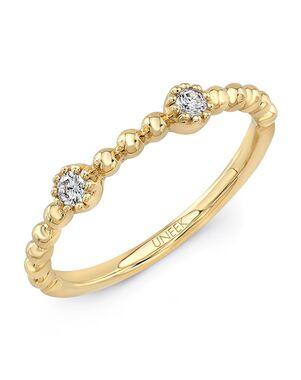 "Uneek Fine Jewelry Uneek ""Las Palmas"" Stackable Wedding Band, 14K Yellow Gold - LVBNA285Y Gold Wedding Ring"