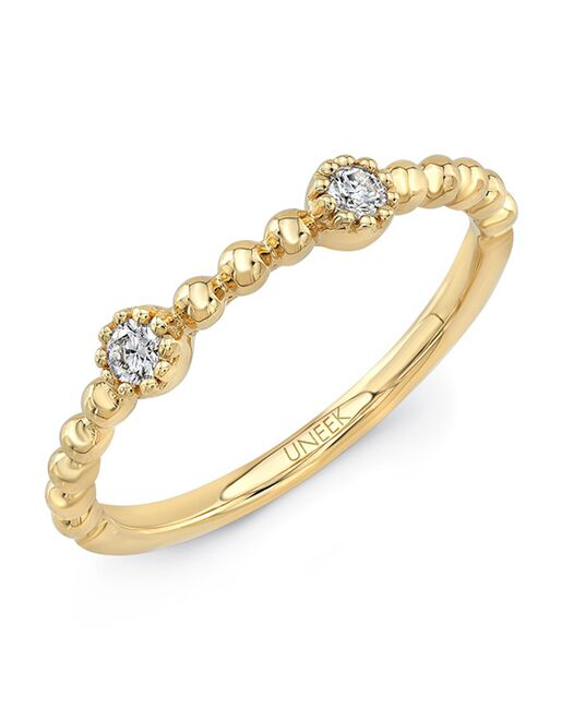 Uneek Fine Jewelry Las Palmas Stackable Wedding Band 14k Yellow Gold