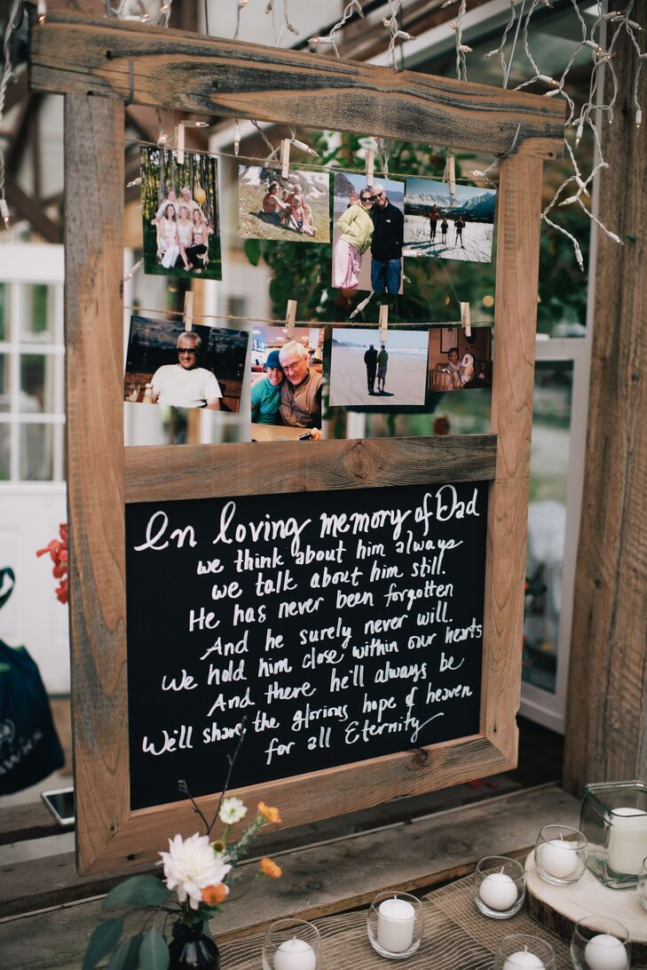 Chalkboard Photo Remembrance Display
