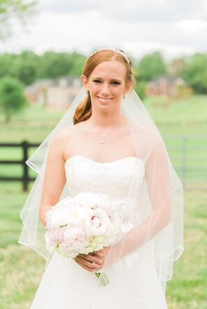 Strapless A-Line Wedding Dress With Lace Details