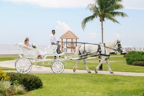 White Horse and Carriage Ceremony Entrance