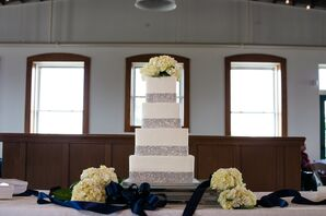 Sparkly Square Tiered Wedding Cake