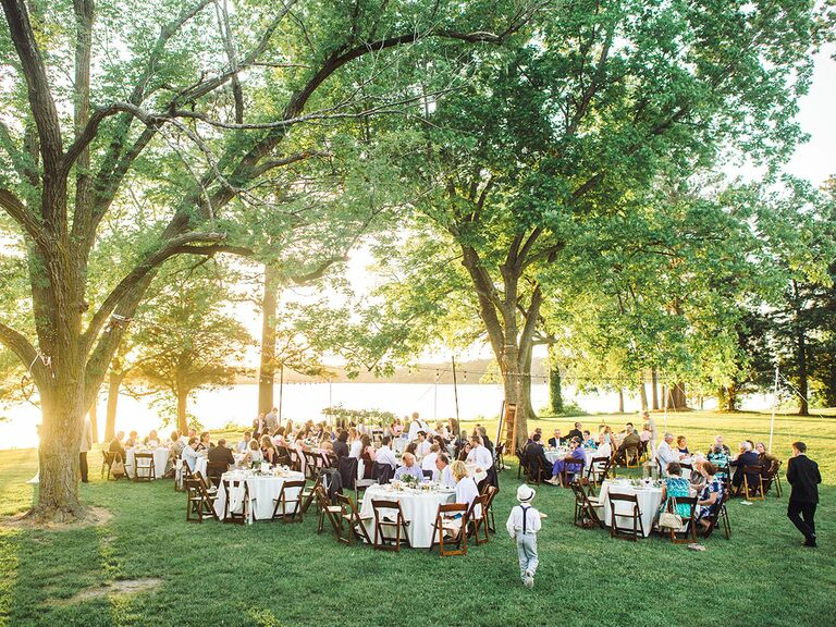 Outdoor wedding romantic