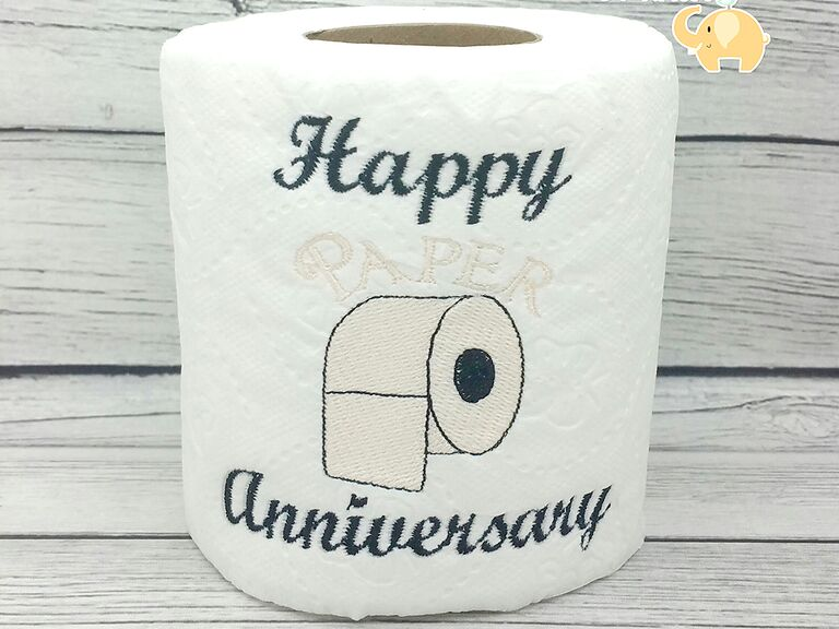 Embroidered Toilet Paper Anniversary Gift