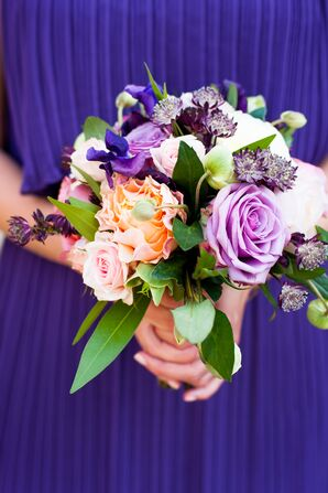 Purple and Orange Bridesmaid's Bouquet