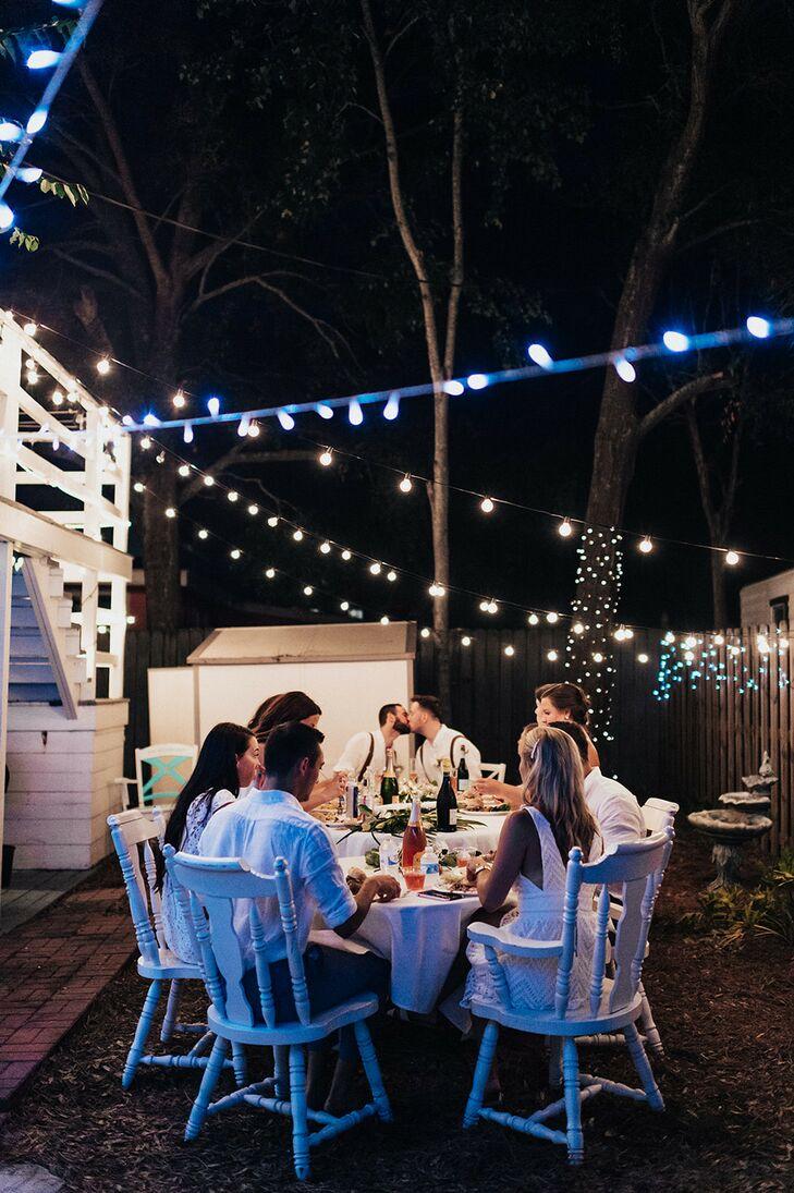 Wedding Reception at Night on Tybee Island in Georgia
