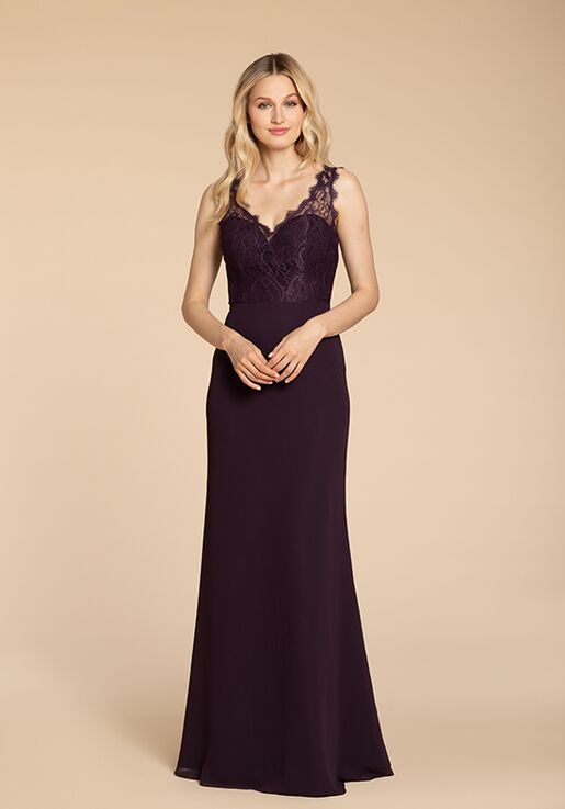 Hayley Paige Occasions 5963 V-Neck Bridesmaid Dress