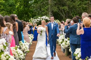 Outdoor Ceremony with Hydrangeas