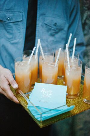 Signature Summer Cocktails and Personalized Napkins