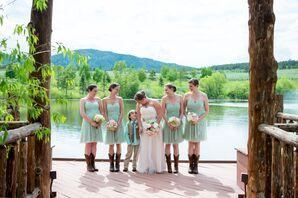 Knee-Length Mint Green Bridesmaid Dresses