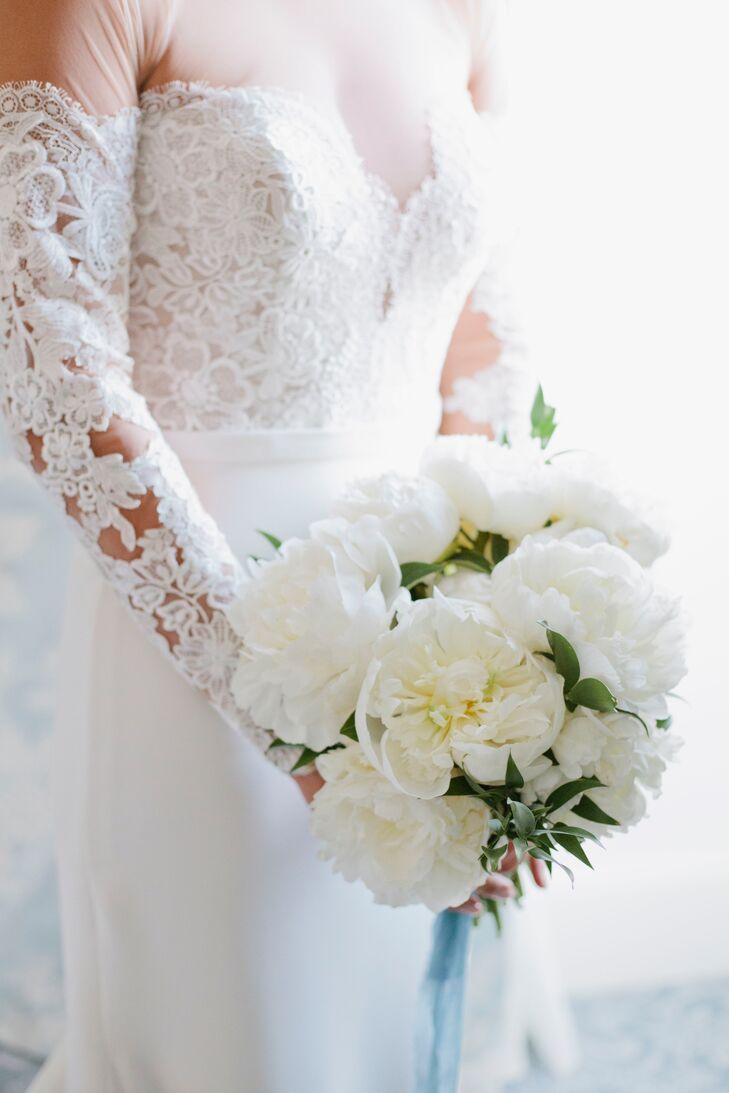 Formal White Peony Bouquet